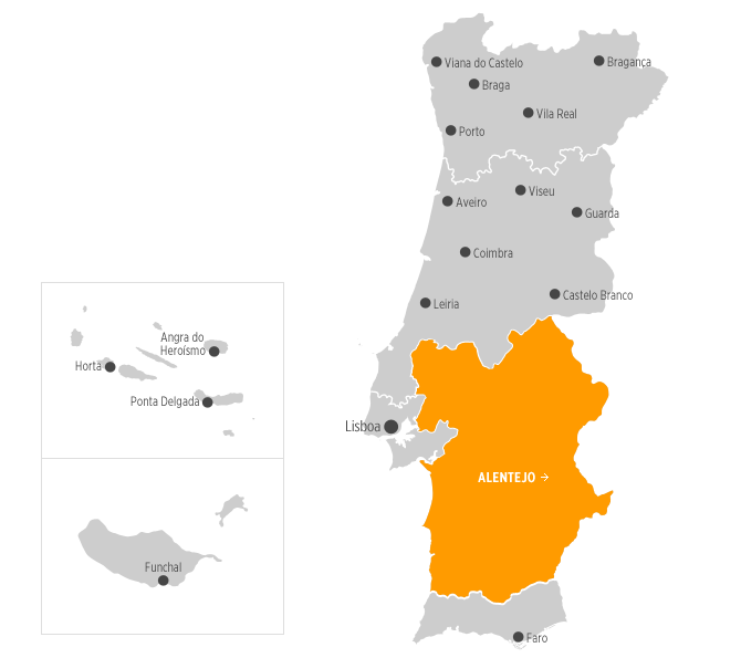 mapa de portugal alentejo Destinos | .visitportugal.com mapa de portugal alentejo
