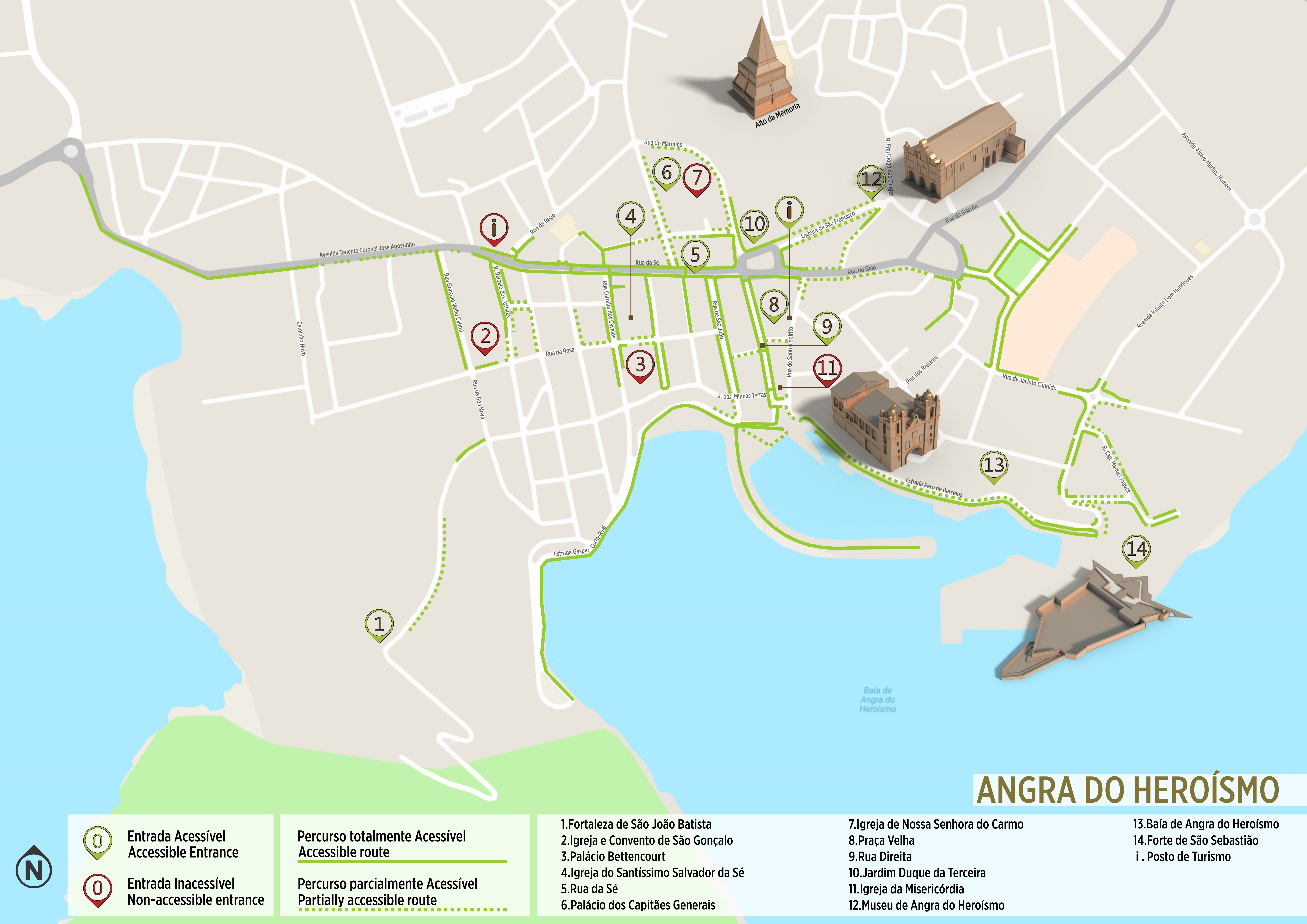 Angra Do Heroismo Accessible Itinerary Map