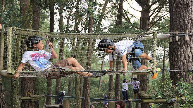 Parque Aventura Cova da Baleia_Arborismo Ort: Mafra Foto: Parque Aventura Cova da Baleia