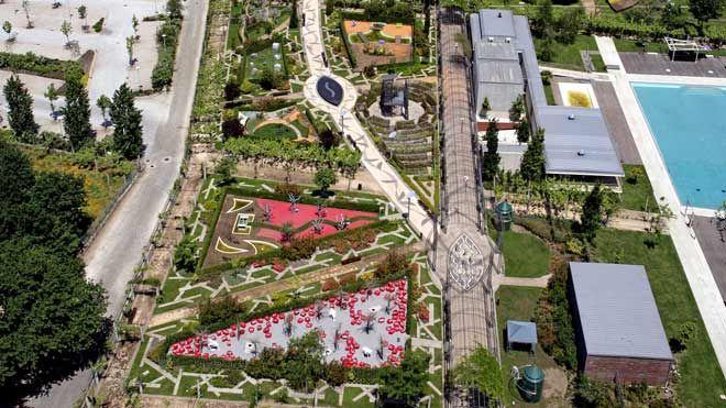 Festival Internacional de Jardins - vista aérea&#10Lieu: Ponte de Lima&#10Photo: CM Ponte de Lima