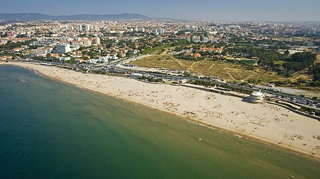 Praia de Carcavelos Local: Carcavelos Foto: Turismo do Estoril