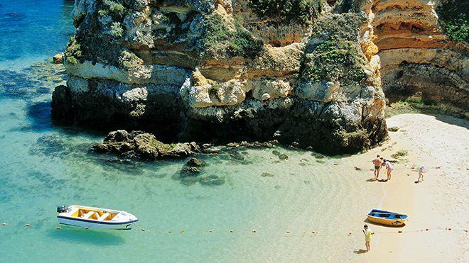 Praia do Camilo&#10場所: Barlavento&#10写真: John Copland