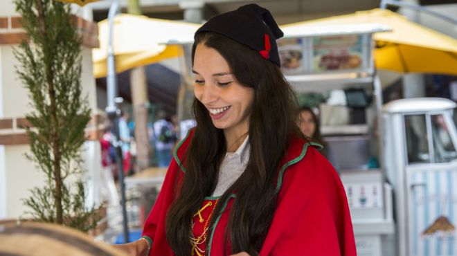 Madeira_Traditional costume with the Carapuça&#10Place: Madeira_Mercado dos Lavradores&#10Photo: ©GregSnell