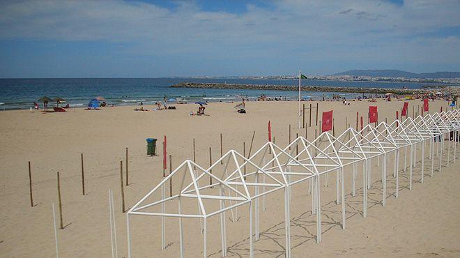 Praias da vila - Costa de Caparica&#10Luogo: Costa de Caparica - Almada&#10Photo: ABAE