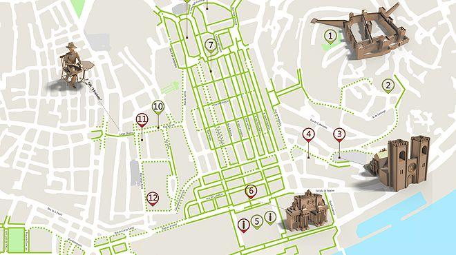 mapa do rossio Rossio (Lisbona)   Cartina dell'itinerario accessibile   mapa do rossio