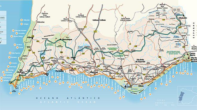 Mapa Do Algarve Www Visitportugal Com