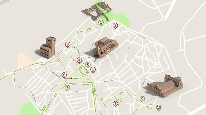 Mapa de Elvas - Itinerário turístico acessível&#10照片: ICVM