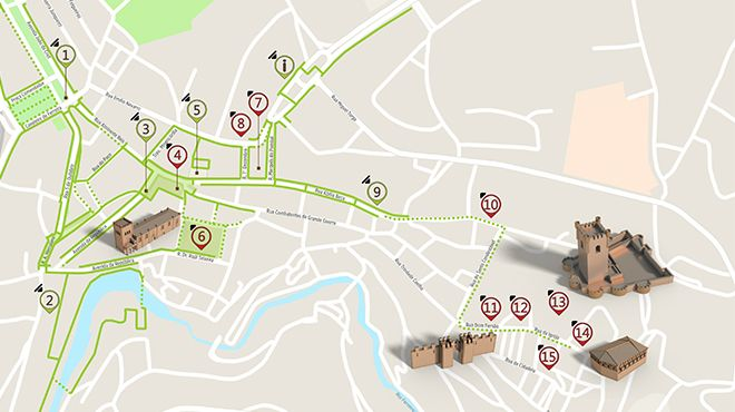 Mapa de Bragança - itinerário turístico acessível Foto: ICVM