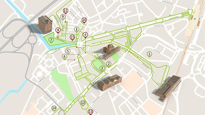 Mapa de Aveiro - Itinerário Acessível &#10Ort: Aveiro&#10Foto: ICVM