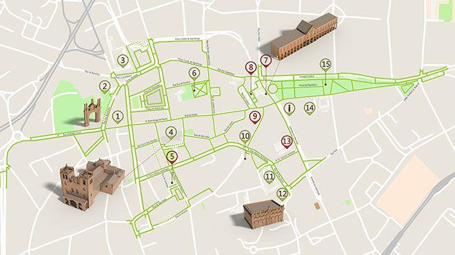 Mapa de Braga - Itinerário Turístico Acessível Photo: ICVM / Turismo de Portugal