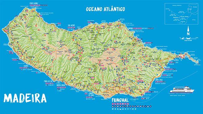 Mapa da Ilha da  Madeira Ort: Madeira Foto: Mapa da Ilha da  Madeira