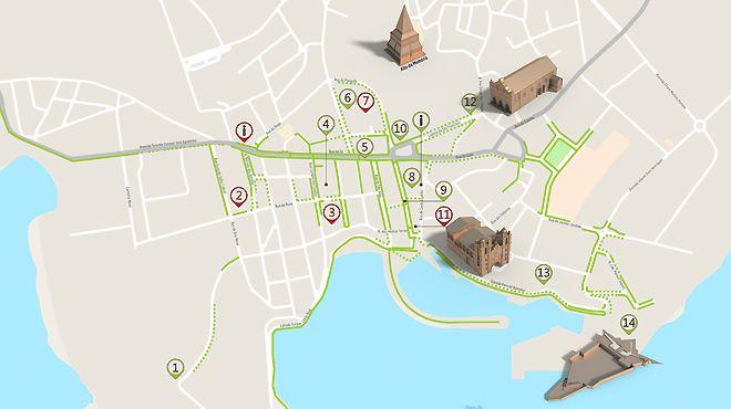 Mapa de Angra - Itinerário Acessível&#10Foto: ICVM
