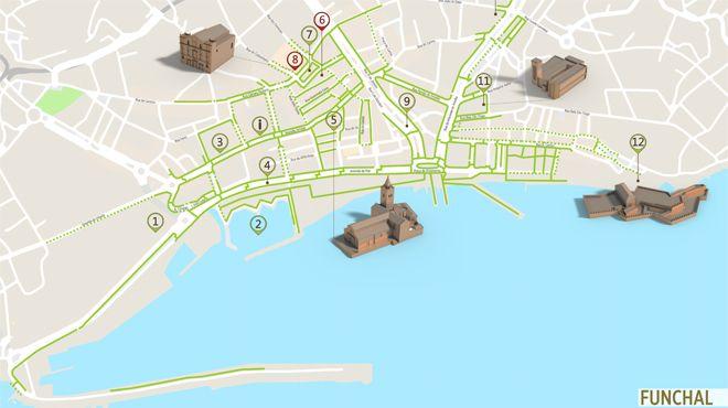Mapa do Funchal - Itinerário Acessível 写真: ICVM