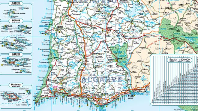 Mapa De Portugal Completo.Mapa Turistico Www Visitportugal Com