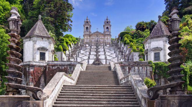 Santuario Bom Jesus Monte, Braga Lugar Braga Foto: shutterstock_Henner Damke