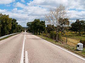 Pela Estrada Nacional 2, de norte (...)