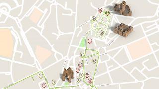 Mapa Guimarães - itinerário turístico acessível
