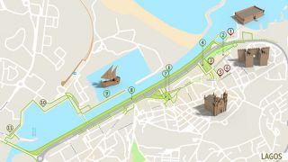 Mapa Lagos - itinerário turístico acessível