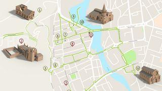 Mapa Tomar - Itinerário turístico acessível