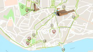 Mapa do Porto - Itinerário Acessível &#10Foto:ICVM