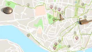 Mapa do Porto - Itinerário Acessível Foto:ICVM