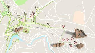 Mapa de Bragança - itinerário turístico acessível  Photo: ICVM