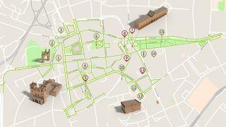 Mapa de Braga - Itinerário Turístico Acessível Foto: ICVM / Turismo de Portugal