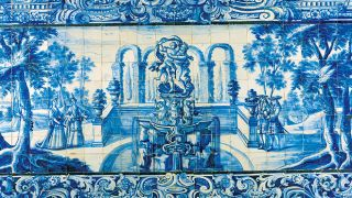 Painel de Azulejos&#10Lugar Palácio Olhão&#10Foto: António Sacchetti