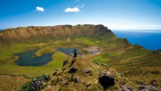 Caldeirão Ort: Ilha do Corvo nos Açores Foto: Veraçor