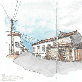 Urban Sketchers em Fátima - Fernanda Lamelas地方: Valinhos, Fátima照片: Fernanda Lamelas