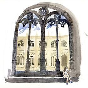 Urban Sketchers em Lisboa - Lis Watkins - Mosteiro dos JerónimosLuogo: LisboaPhoto: Lis Watkins