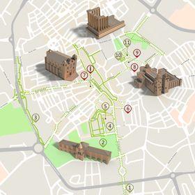 Mapa de Évora - Itinerário Turístico Acessível Foto: ICVM / Turismo de Portugal