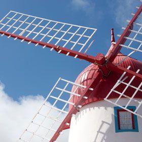 Windmill地方: Ilha Graciosa nos Açores照片: Turismo dos Açores