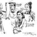 Urban Sketchers em Fátima - Rob Sketcherman&#10場所: Fátima&#10写真: Rob Sketcherman