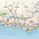 Mapa do Algarve