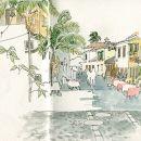 Urban Sketchers - Madeira - Ea Ejersbo - Funchal Local: Funchal Foto: Ea Ejersbo