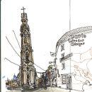 Urban Sketchers - Mário Linhares - Torre dos Clérigos Place: Porto Photo: Mário Linhares
