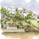 Urban Sketchers - Pedro Cabral - Odeceixe&#10地方: Odeceixe / Rota Vicentina&#10照片: Pedro Cabral