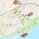 Mapa de Viana do Castelo - itinerário turístico acessível Foto: ICVM