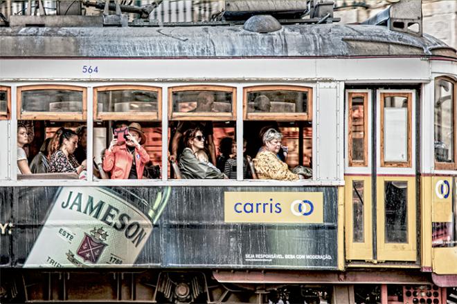Tram 28 at Rua Da Prata, Lisbon