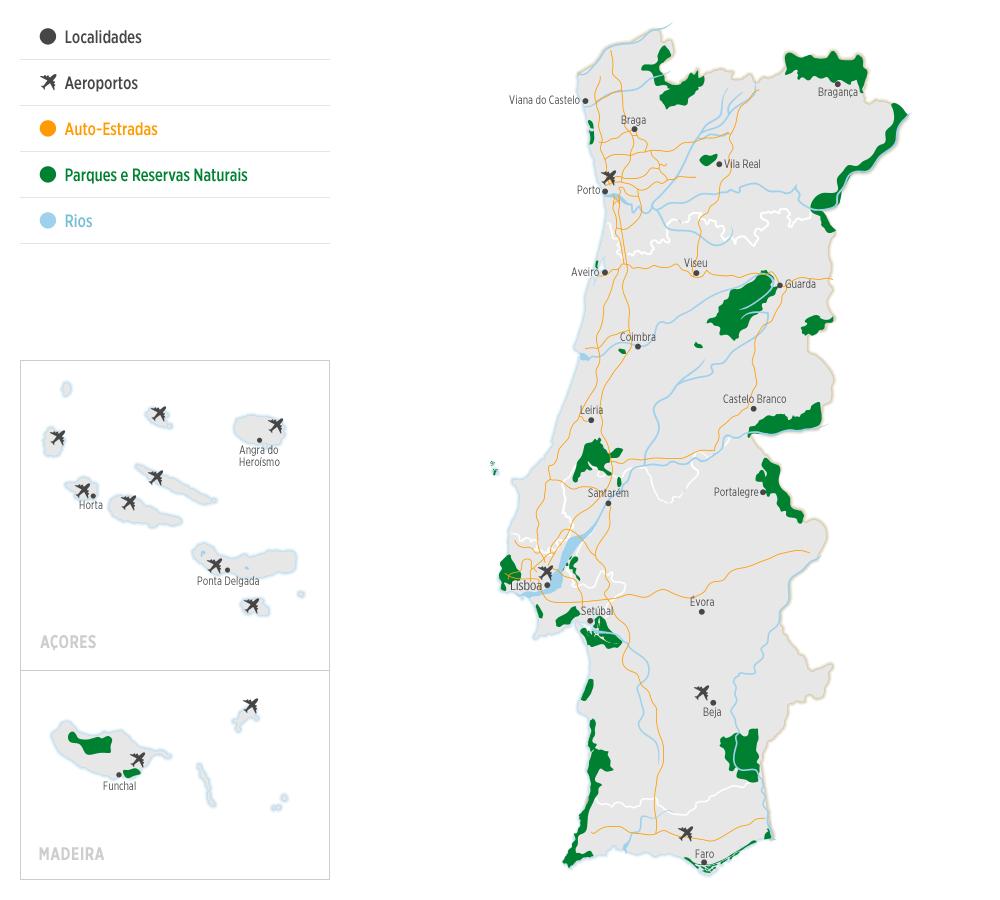 Mapa Sobre Portugal Portugues