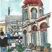 Urban Sketchers - Hélio Boto - Loulé Lugar AlgarveFoto: Hélio Boto