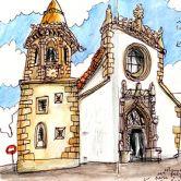 Urban Sketchers - Nelson Paciência - Igreja de São Baptista Место: TomarФотография: Nelson Paciência
