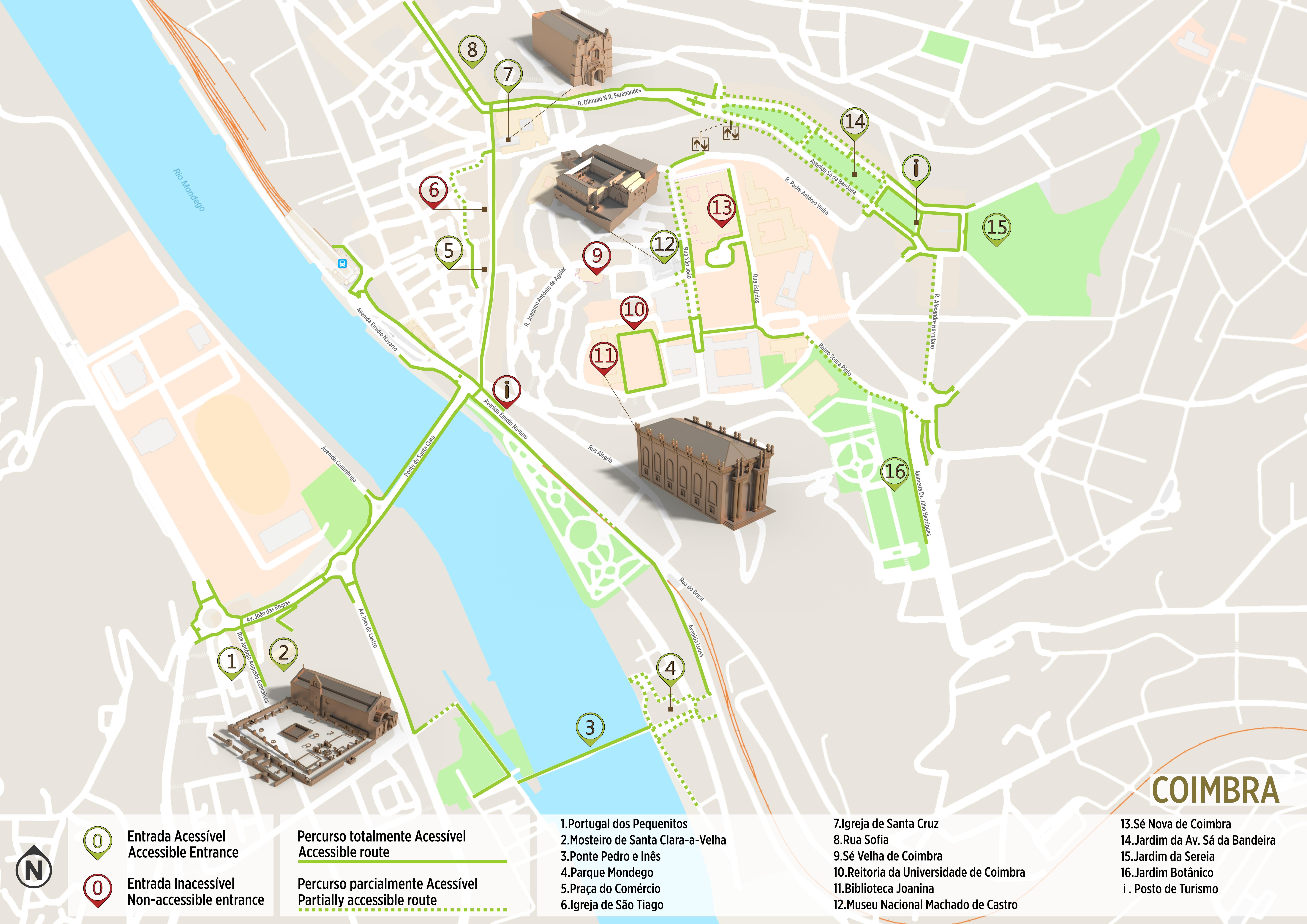 mapa das ruas de coimbra Coimbra   Itinerário Acessível | .visitportugal.com mapa das ruas de coimbra