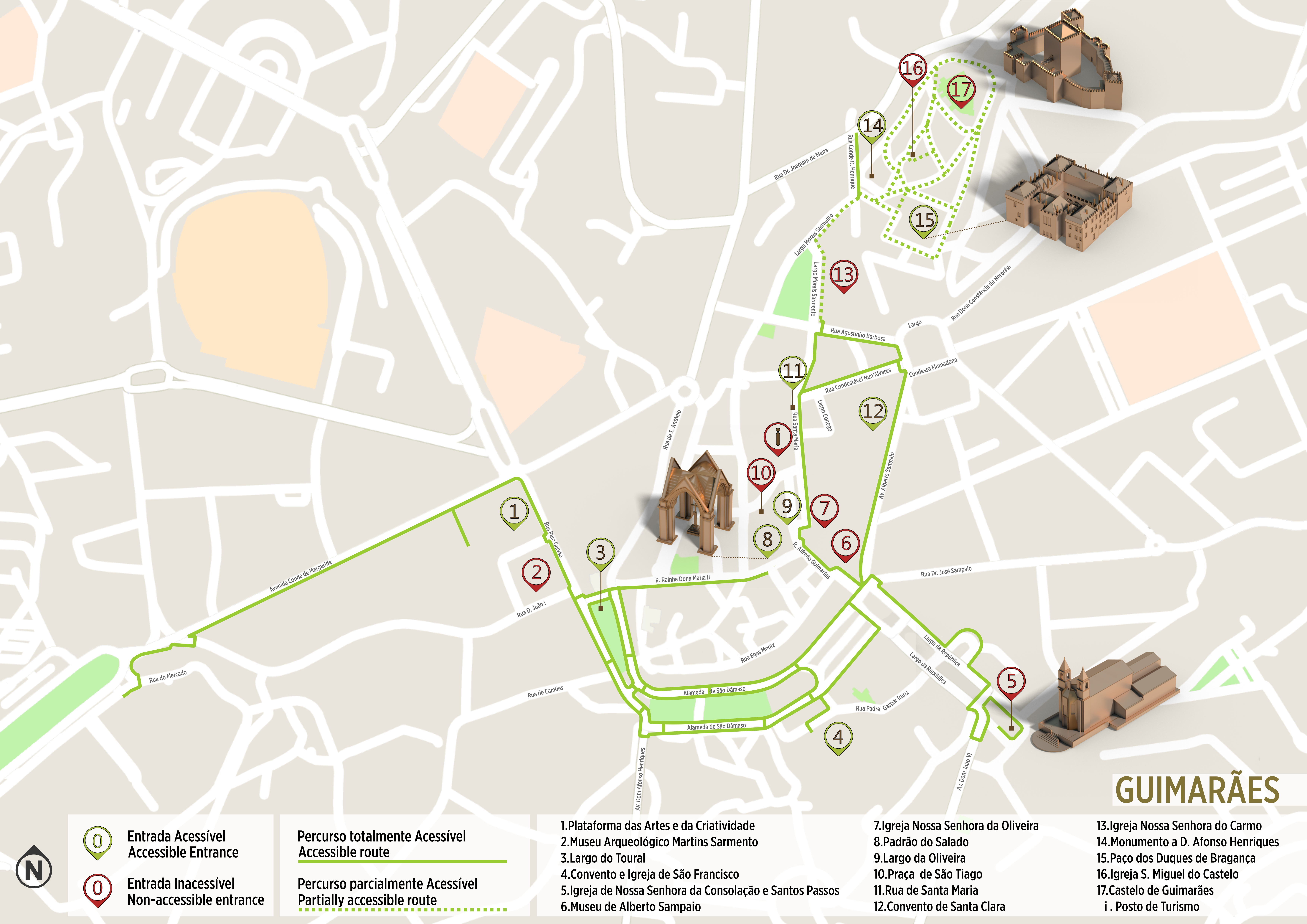 avenida da igreja lisboa mapa Guimarães   Accessible tour | .visitportugal.com avenida da igreja lisboa mapa
