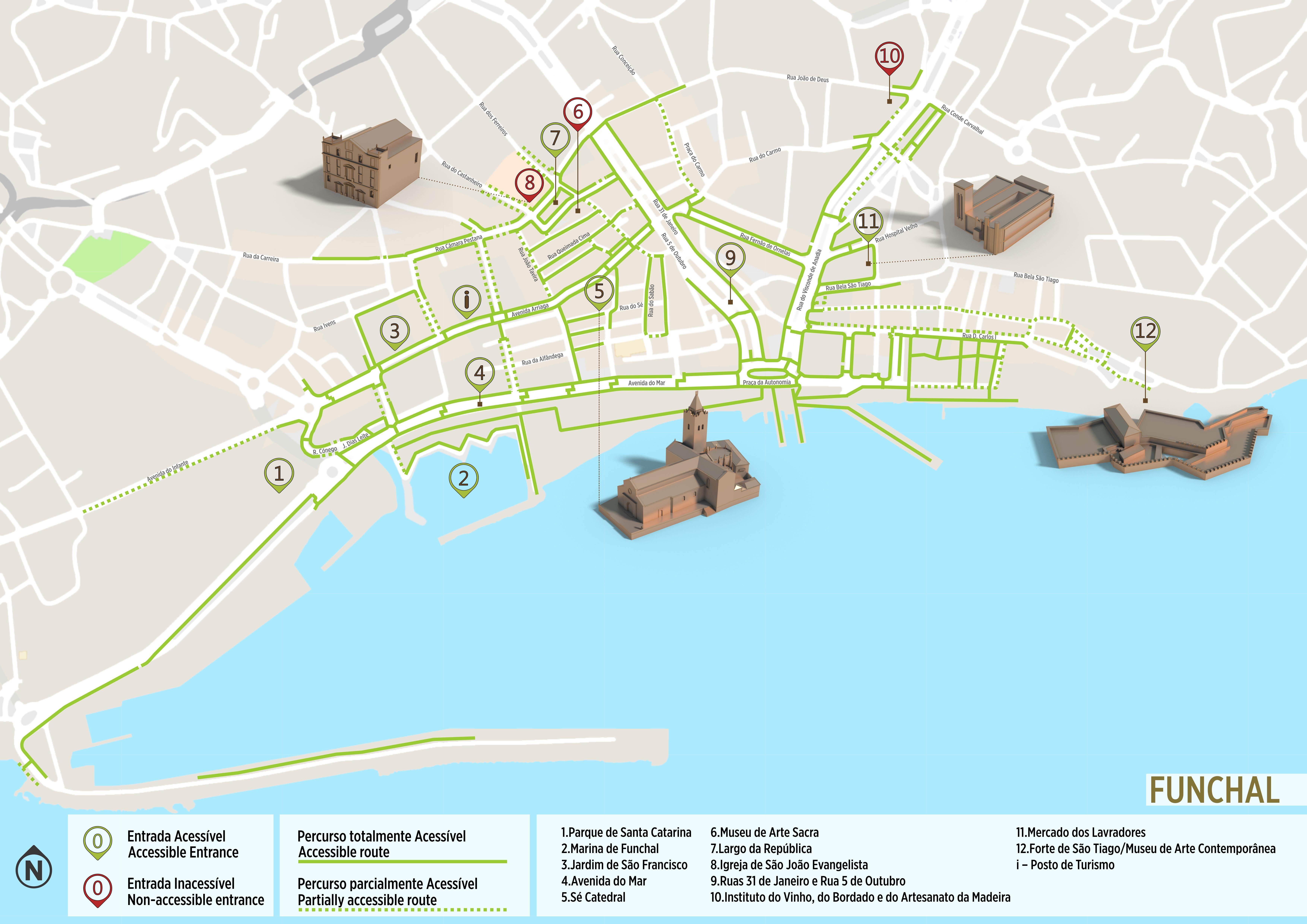 mapa do funchal ruas Funchal   Accessible Tour | .visitportugal.com mapa do funchal ruas