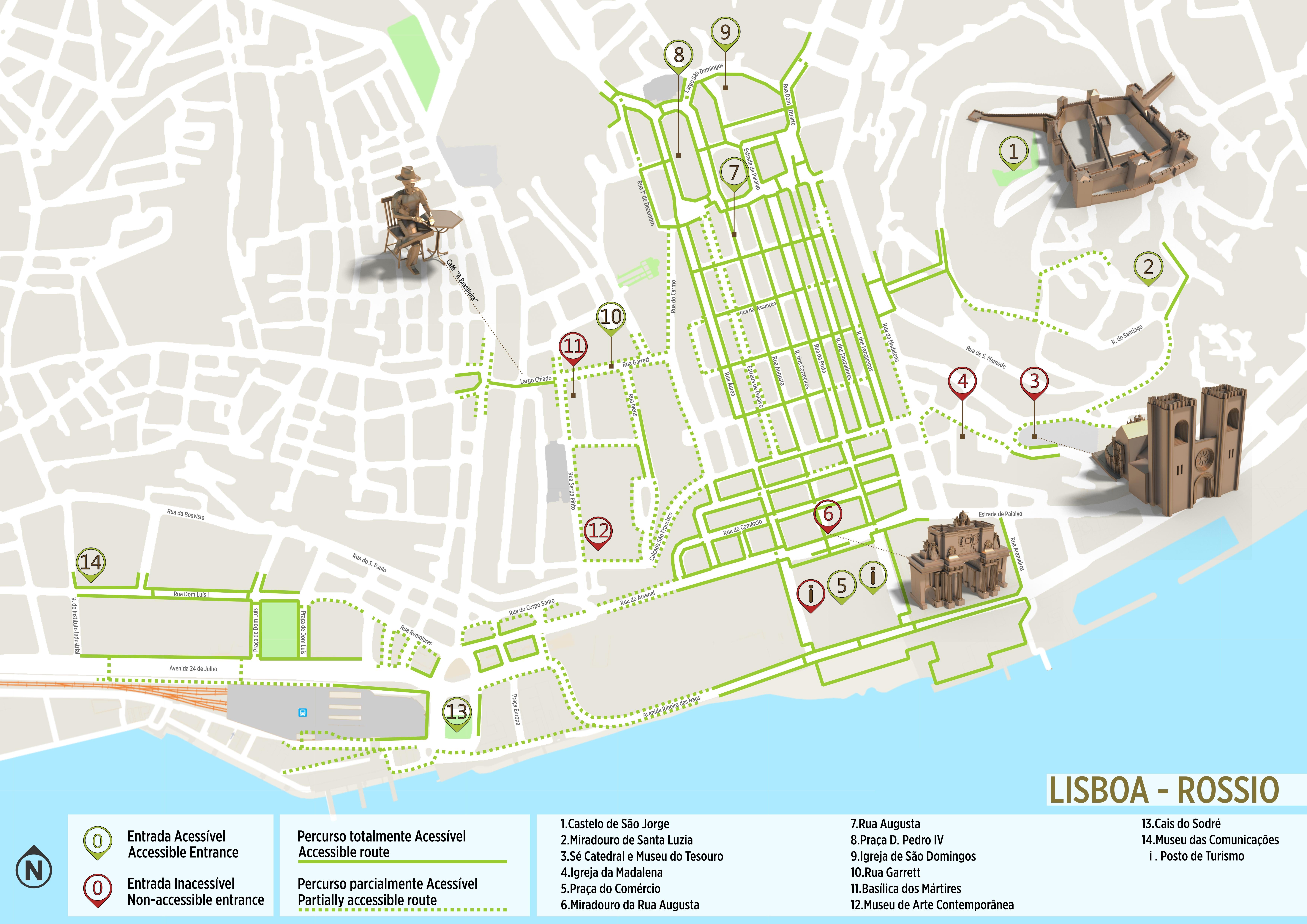 rua do século lisboa mapa Lisboa   Itinerário Acessível   .visitportugal.com rua do século lisboa mapa