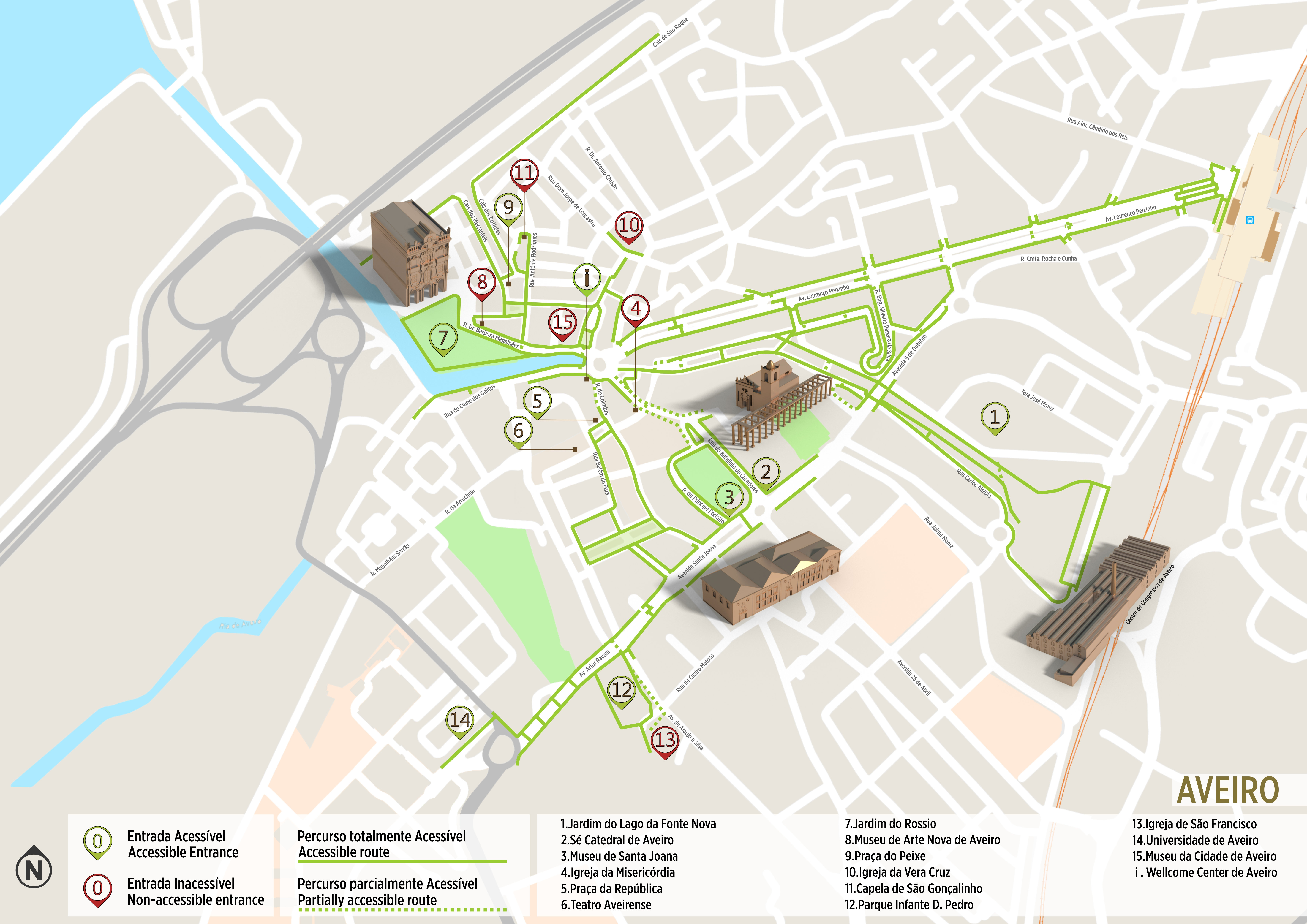 Misericordia University Campus Map.Aveiro Accessible Itinerary Www Visitportugal Com