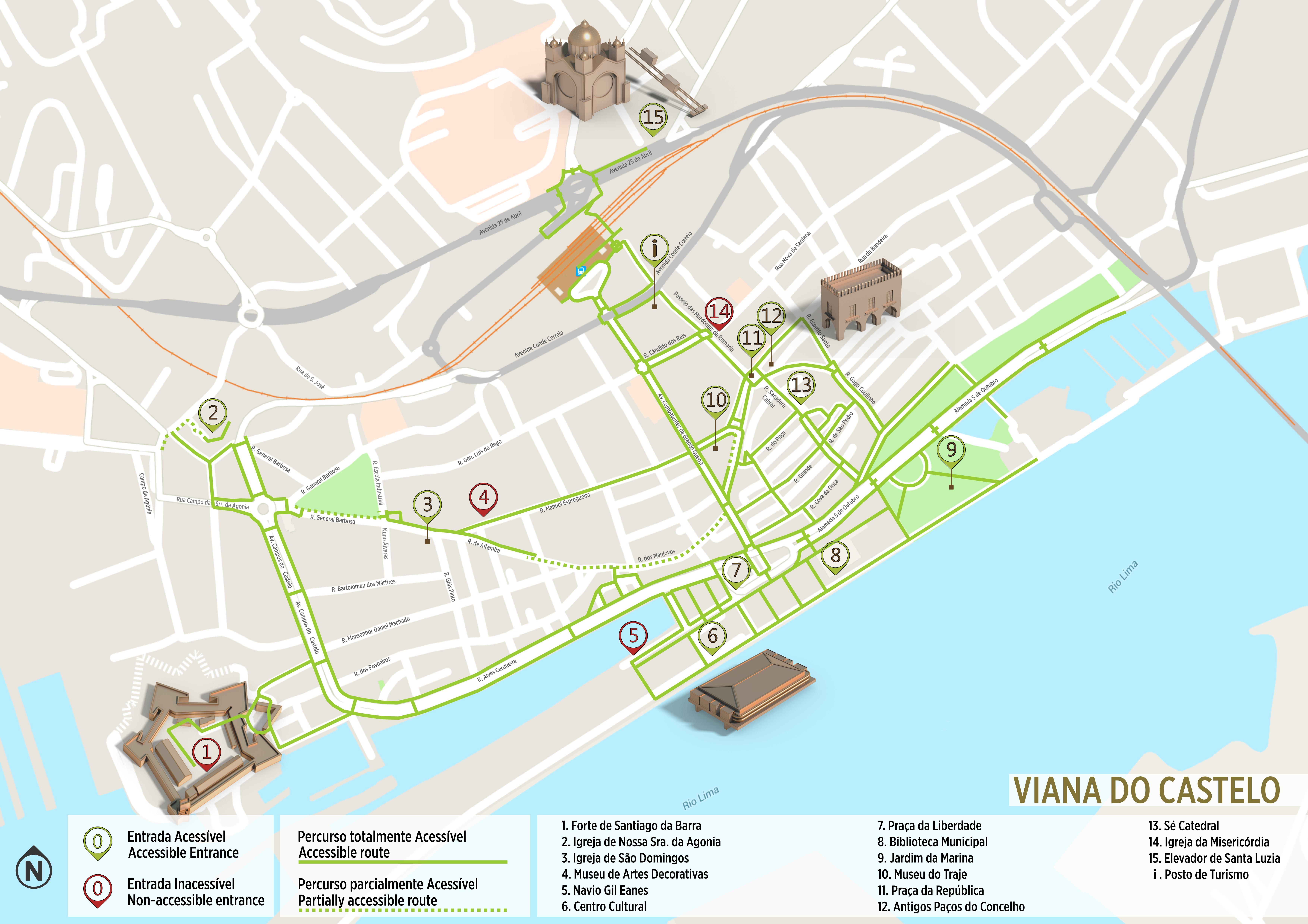 avenida dos combatentes lisboa mapa Viana do Castelo   Itinerário Acessível | .visitportugal.com avenida dos combatentes lisboa mapa