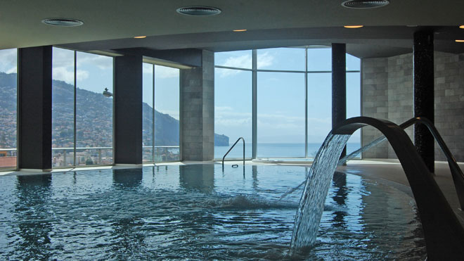 Indoor heated swimming pool from ©Four Views Baía Hotel _Funchal_Madeira